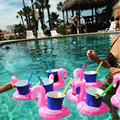 Cute PVC Inflatable Floating Coconut Trees/Donut/Duck Drink Can Holder for Swimming Pool Bathroom Accessories Beach Party