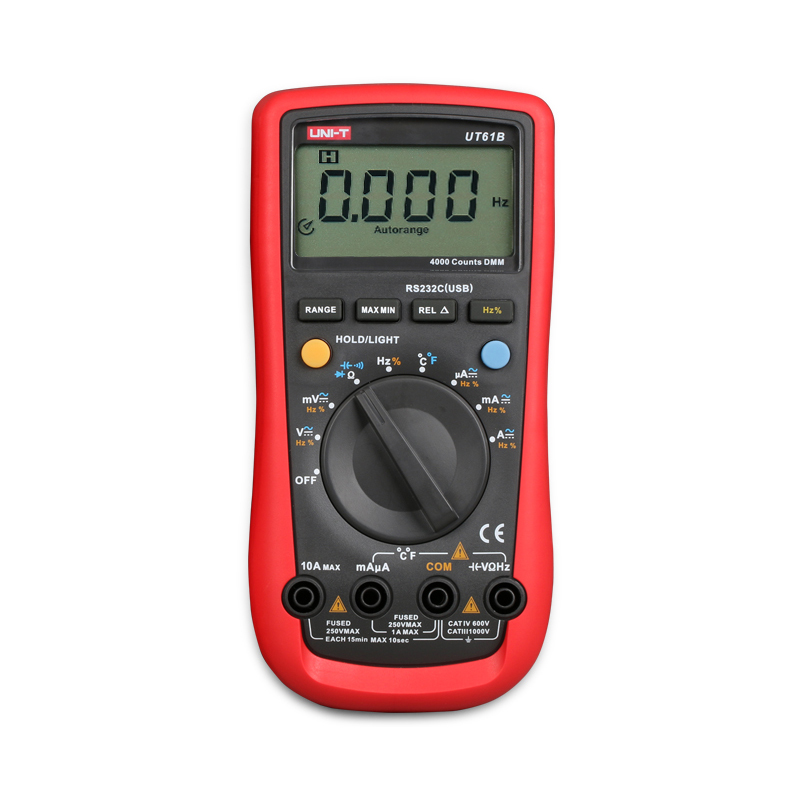 UNI-T UT61B Modern Auto Power off LCD Backlight DMM Digital Multimeters W/ Temperature Test Multimetro Ammeter  цены