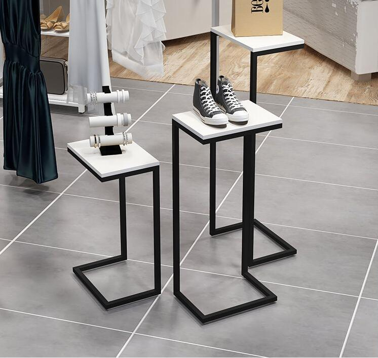 Department store display stand window display stand display stand floor style high and low decoration stand clothes rack.