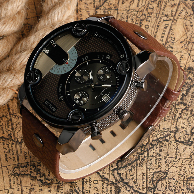 Military Watches Top-Brand Luxury Men Strap Fashion Quartz Montres Horloge Homme Mannen