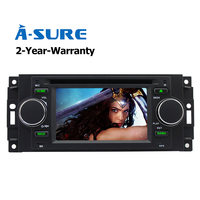 A Sure Car DVD GPS For Jeep Dodge Chrysler 300c Radio Player Navigation With Mirror Link