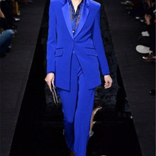 New Designs Womens Royal Blue Formal Pants Suits for Weddings Tuxedo Ladies Busi