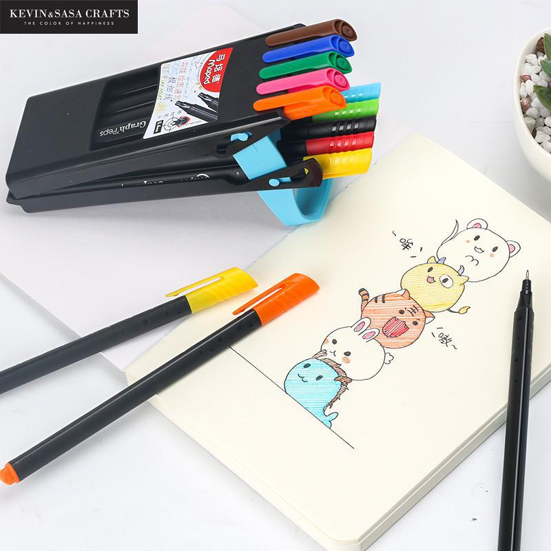 10/20Pcs Colors Pen Set Sketch Pens Water Based Assorted Ink Arts Drawing For Children Marker Pen Gift School Stationery Tools