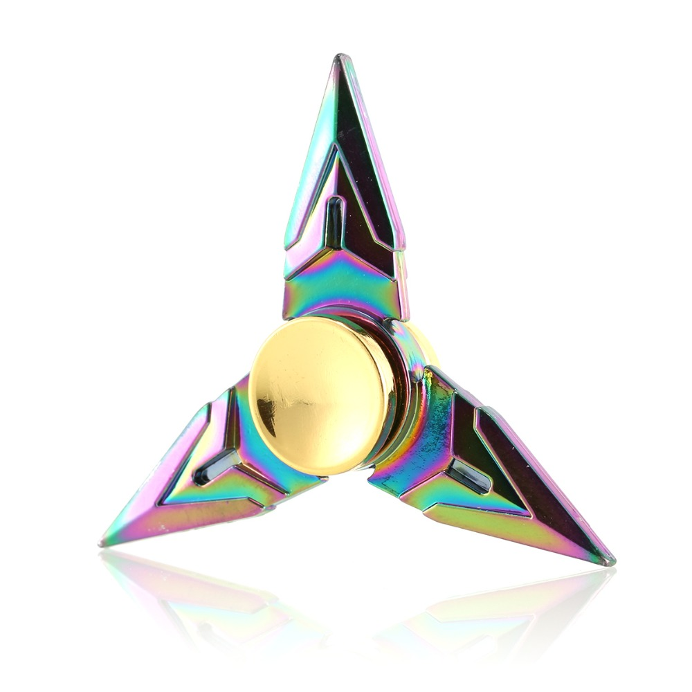 Wallfire Genji Rainbow Ninja Tri Fidget Hand Spinner EDC Metal Bearing Fidget Toy For ADHD Anxiety