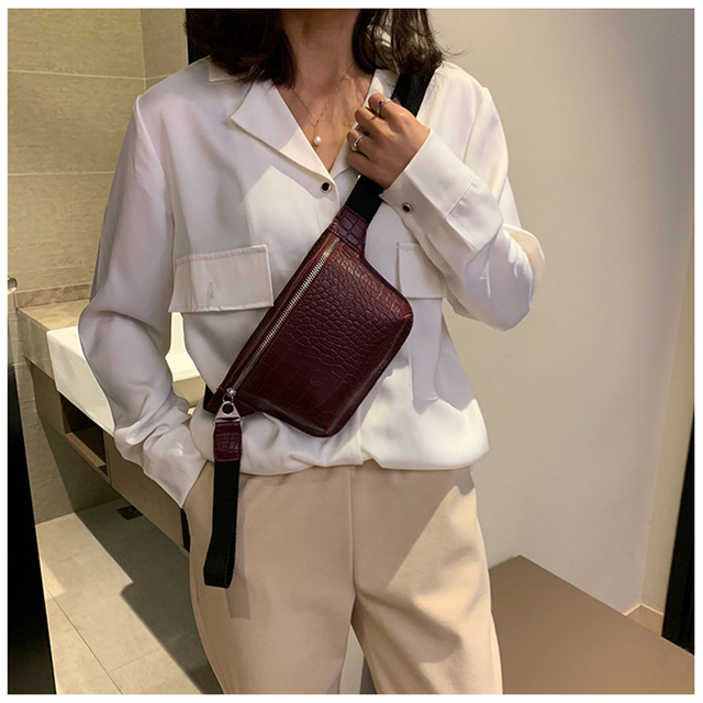 CROWDALE Women bag crocodile multicolor messenger chest bag clutch female Pu leather handbag cross body bag Fashion high quality 1