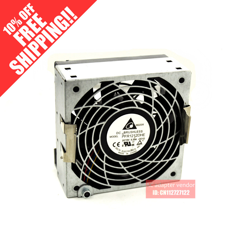 Delta 12038 car booster fan violence server PFR1212DHE 12V 5.2A 12cm fan вентилятор охлаждения delta afb1212she 12cm 12038 1 6a pwm