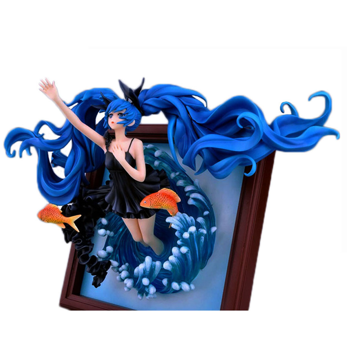 цена на Chanycore Janpan Vocaloid Hatsune Miku Anime Figure Photo Frame Deep Sea Girl Ver. 1/8 Scale PVC Figure Collection Doll Toy 35cm