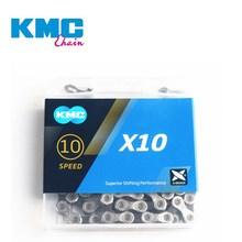 KMC X10 X 10,93 MTB Rennrad Kette 116L 10 Geschwindigkeit Fahrrad Kette Magischen Knopf Berg Mit Original box