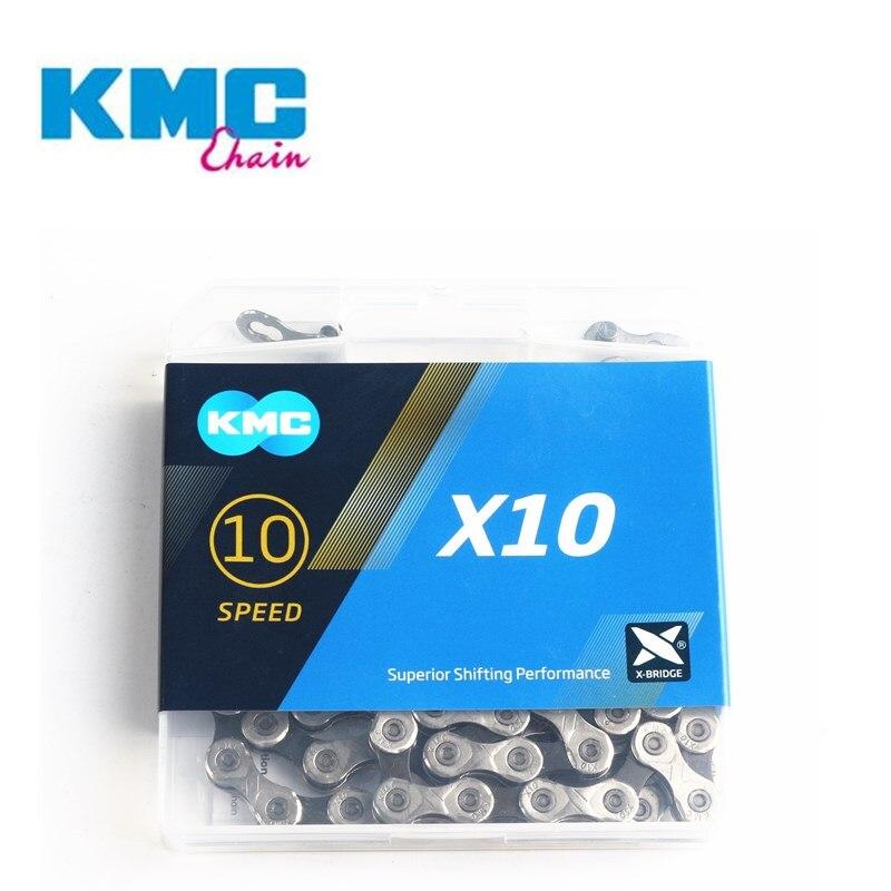 MTB Estrada Corrente de Bicicleta KMC X10 X10.93 116L 10 Velocidade Botão Mágico Corrente de Bicicleta de Montanha Com caixa Original
