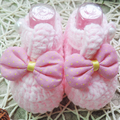 Mão de malha Berço Sapatos de Bebê Recém-nascido Da Menina Da Criança Infantil Enfeites de Borboleta-nó Sapatos de Crochê