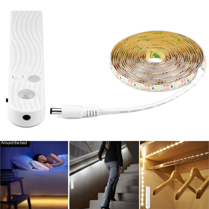 1 Mt 2 Mt 3 Mt Wireless Motion Sensor Led Nachtlicht Bett Schrank Treppen Licht Usb Led Streifen Lampe 5 V Für Tv Hintergrundbeleuchtung Beleuchtung Mit Dem Besten Service
