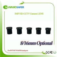 3mp Full HD 8 / 16mm CCTV board camera Lens IR M12 mount F2.0 for Security IP/AHD/CVI/TVI etc Camera