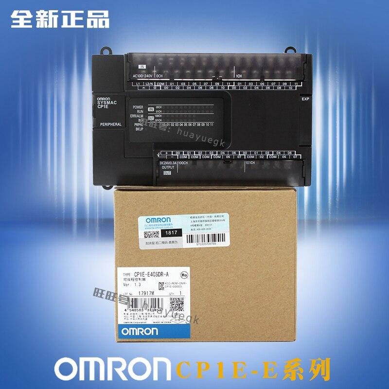 CP1E E40SDR A New Original Omron PLC CPU AC100 240V input 24 point relay output 16