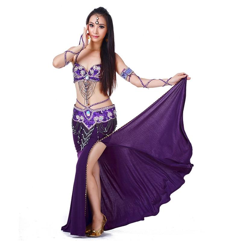 Women Ladies Belly Dance Costume Skirts And Top Sets Indian Belly Dance Clothing For Belly Dancing 3piece(bra+dress+waist)