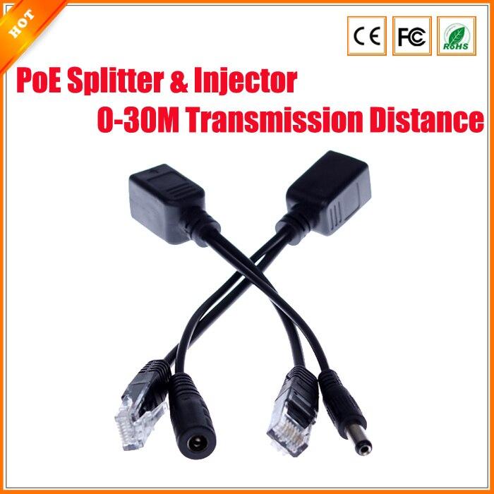 bilder für PoE Passive Kabel Splitter Power Over Ethernet Router IP Camera Connector PoE Splitter & Injektor-kabel Kit PoE Adapter