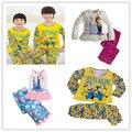 Menino meninas pijama define criança adolescentes grandes crianças elsa anna minions dos desenhos animados crianças sleepwear idade tamanho 4 6 7 8 9 10 11 12 anos