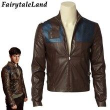 Krypton Seg-El Cosplay Costume Halloween Superhero Cosplay Unisex leather Jacket Custom made Seg-El Jacket цена