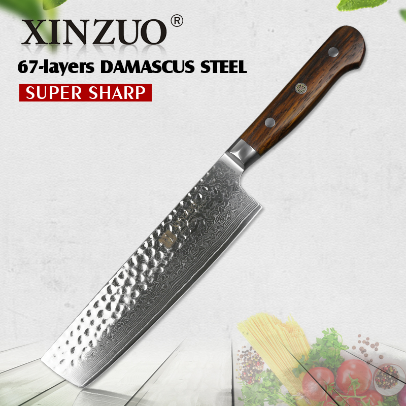 XINZUO 7inch slicing knife Japaness chef knives 67 layer Damascus steel kitchen knife rosewood handle chef