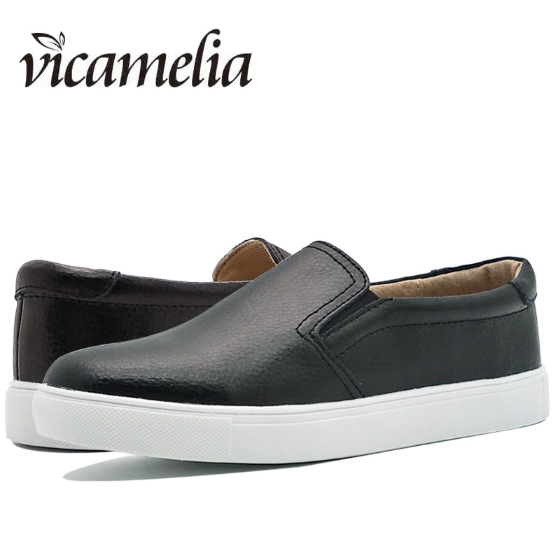 Vicamelia Women Loafers Genuine Leather Women Causal Shoes for Ladies Slipony Casual Flats Shoes 2017 Female Footwear 014