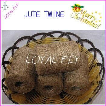 Free shipping 20pcs/lot natural jute twine/cords (1.5mm) 100m/spool,twisted jute rope, jute string