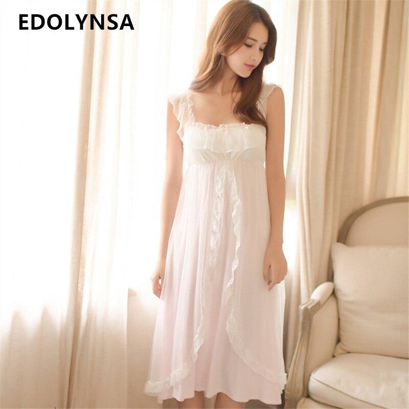 Sleepwear Women Ruffle Frill Strap Wrap Ruffle Sleeveless Honeymoon Night Dress Cute Princess Style Lingerie Lounge Wear T127