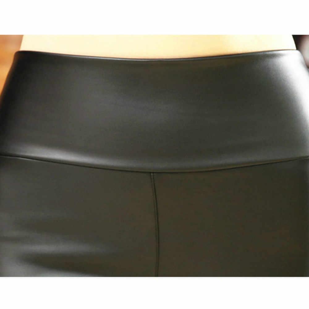 Mulheres PU de Couro Slim Leggings Sexy Cintura Alta Elástico de Fitness Leggins Legging De Couro Falso Calças Lápis Calça de Compressão