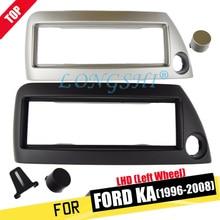 цена на LONGSHI Single Din Facia for Ford Ka 1996-2008 (Left Wheel) LHD Radio DVD Stereo CD Panel Dash Kit Trim Fascia Face Plate Frame