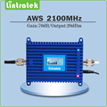 With lcd display 1700 2100  AWS Cell phone Signal Booster  Gain 70dB  AWS 2100Mhz Signal Amplifier