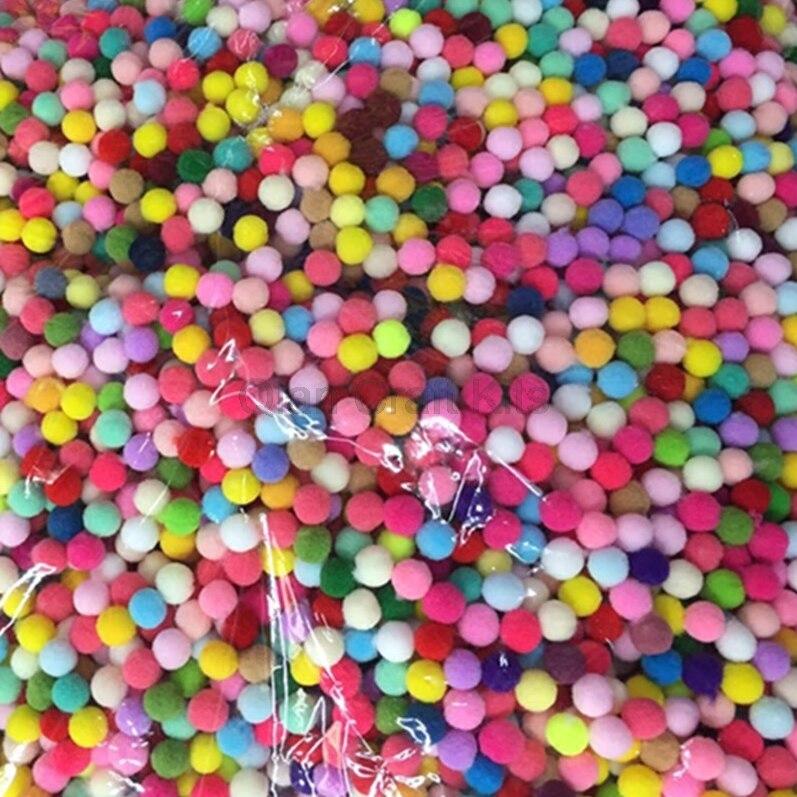 100 шт. DIY смешанный цвет мини пушистые мягкие помпоны мяч Искусство и ремесла хорошее качество