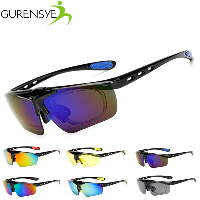Gurensye Oculos Ciclismo Cycling Tactical Glasses Men Women Gafas Ciclismo  MTB Bicycle Bike Sports Cycling Sunglasses 19e59b5db3
