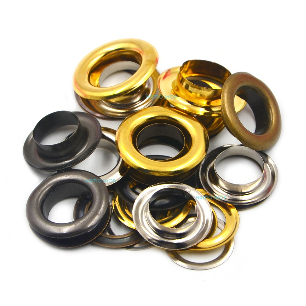 100pcs Metal 12mm Mix Colors Eyelets Buckle Scrapbook 1pcs 12mm Punch Tool LeatherCraft DIY in Garment Eyelets from Home Garden
