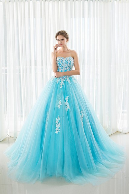 4cb23a7cc461 In Stock Sweetheart Quinceanera Dresses Ball Gowns With Appliques Lace Up  Sweet 16 Dresses Vestidos De