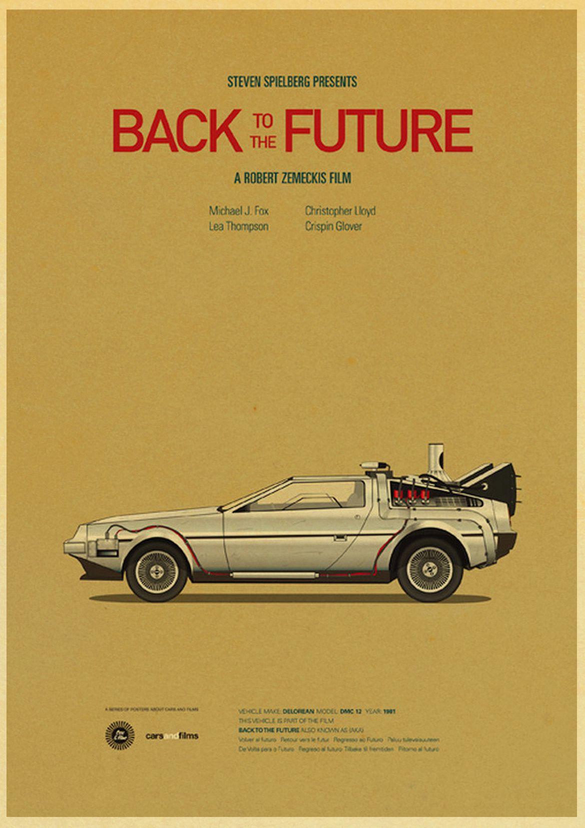 HTB1qev9leuSBuNjSsziq6zq8pXa5 Sci-fi Back to The Future Film Propaganda Retro Kraft Poster Decorative DIY Wall Canvas Sticker Home Bar Art Posters Decor
