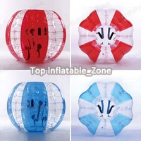 Free shipping 1.0m loopy ball 1.0mm PVC body bubble football bubble ball suit