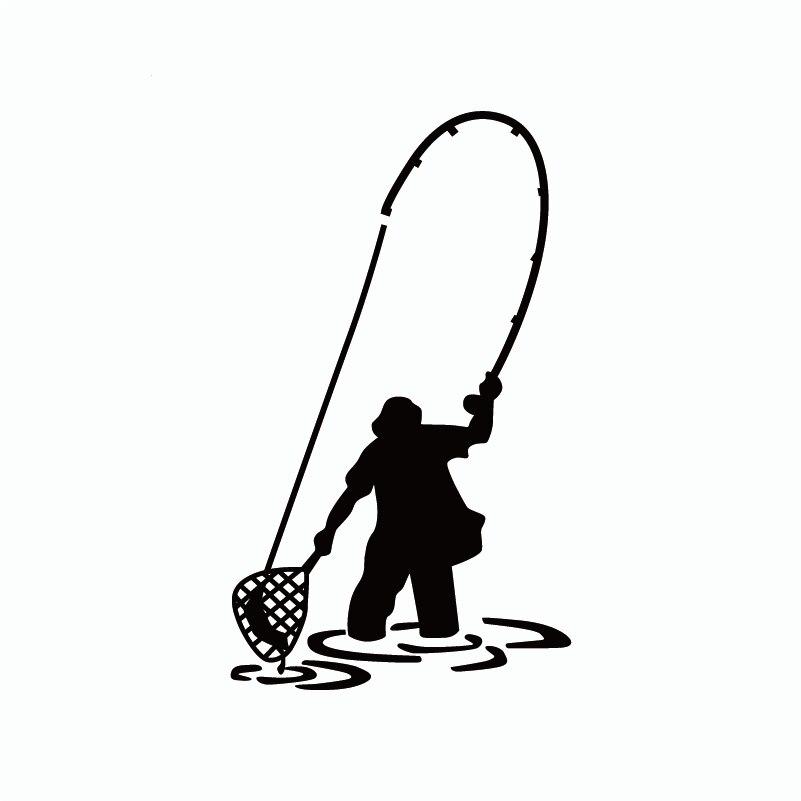 Рыба-9 Fly рыбалка, Рыбак форель рыба забавная виниловая наклейка на стену Наклейка домашний декор домашние обои