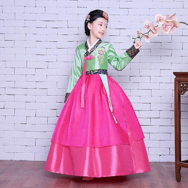 Alta calidad niños hanbok coreano partido niños hanbok para la ...