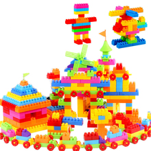 Körpə oyuncaqları DIY bina blokları kərpic Böyük hissəcik sayı Uşaqlar Təhsil Təhsil uyğun plastik plastik oyuncaqlar