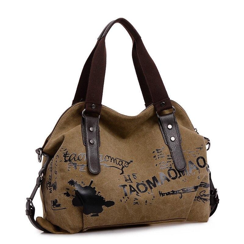 product 2016 Vintage Graffiti Canvas Women HandbagsFemal Famous Designer Shoulder Bags Bolsas Femininas De Ombro Sac a Main Women Bag