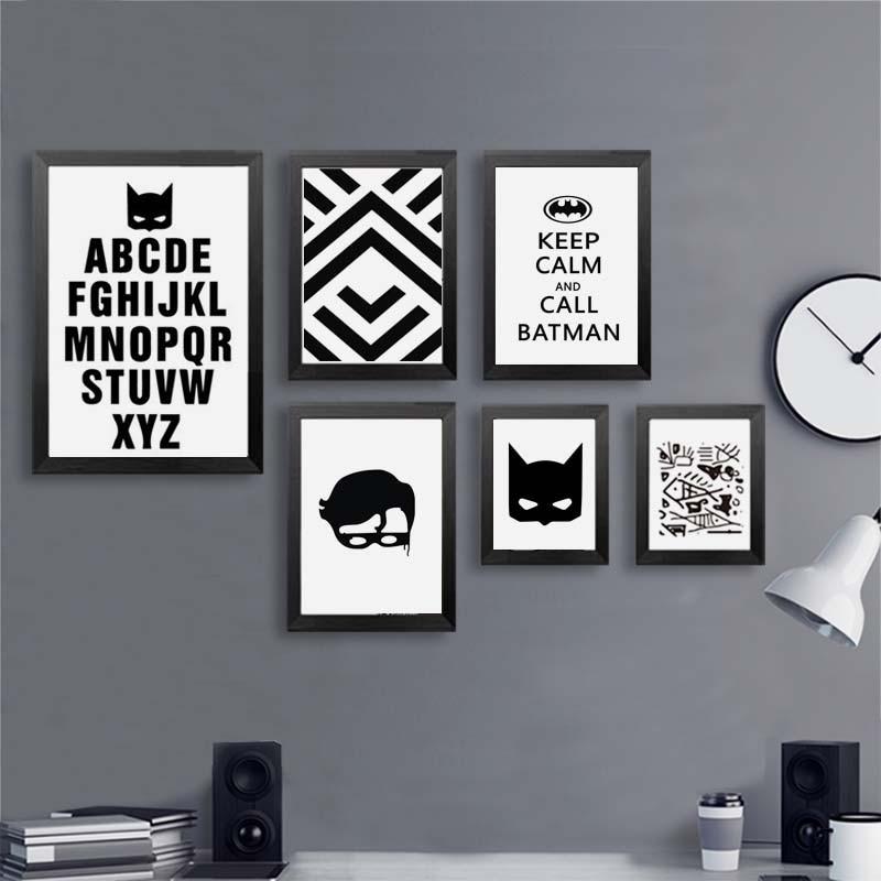 Us 805 Płótno Malarskie Bat Alfabet Drukuj życie Cytaty Plakaty Nowoczesne Nordic Czarno Białe Obrazy ścienne Dekoracja Pokoju Dzieci W Malarstwo I