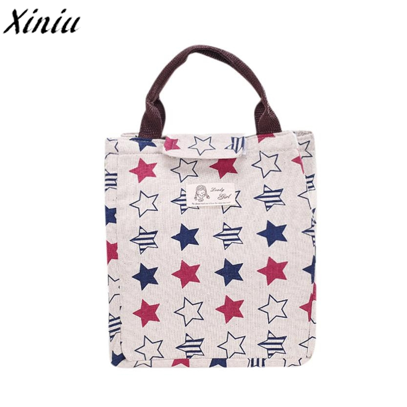 Creative Lunch Bag Printing Insulation Bags Waterproof Tree Print Lunch Boxes for Students Floral Handbag Termica Bolsa #7724