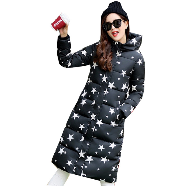 fb8c535da16 2019 Hooded Down Womens Coat Warm Cotton Padded Parka Slim Fitted Winter  Jackets And Coats Female Manteau Femme Down Parka Coat