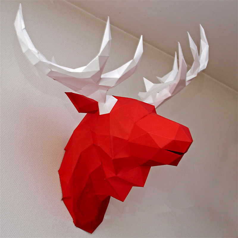 3d Paper Model Unicorn Papercraft Home Decor Wall Decoration Puzzles Educational Diy Kids Toys Birthday Gift #622 Puzzles