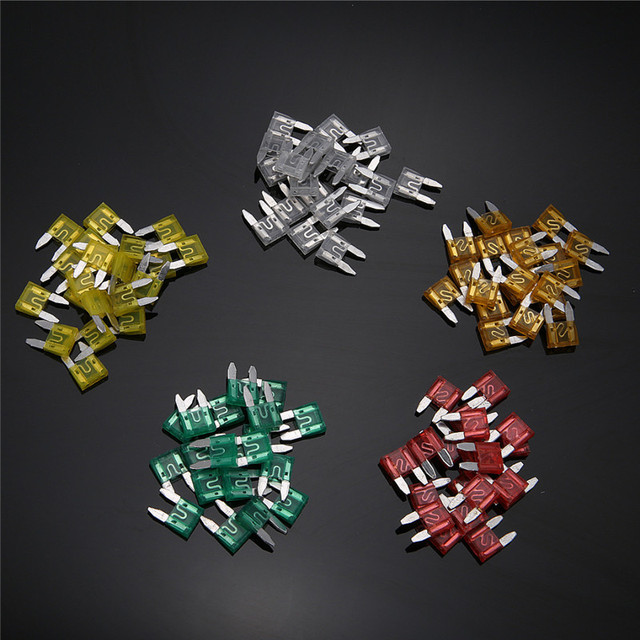 Mayitr 120pcs Car Fuse High Quality Auto Assorted Mini Standard Blade Fuse Set 5A 10A 15A 20A 25A 30A For Car Motorcycle