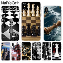 MaiYaCa black and white chess Luxury Quality Phone Case for Apple iPhone 8 7 6 6S Plus X XS max 5 5S SE XR Cover(China)