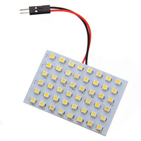 10x) 5X 48 SMD LED T10 BA9S Dome Festoon Bulb Adapter 12V White panel