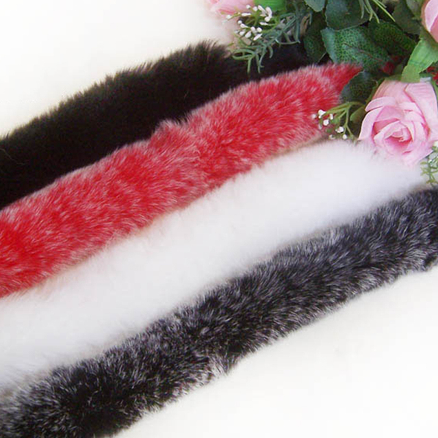 Women Collars Real Rabbit Fur Soft Scarf Collar for Coat Boots Hats Russian Scarves Winter New 2017 Collar Natural Rabbit