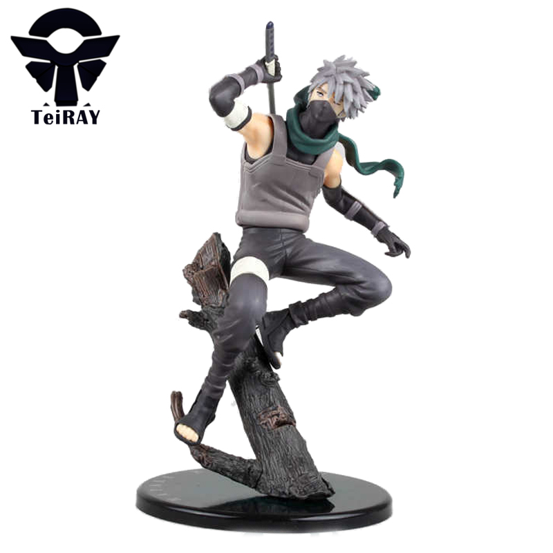 Naruto Ninja Hatake Kakashi pvc action figures Anime toys brinquedos doll brinquedos kids children gifts free shipping 21cm 8.3 free shipping 12 naruto anime ninja copiador hatake kakashi light blade stand boxed 30cm pvc action figure collection model toy