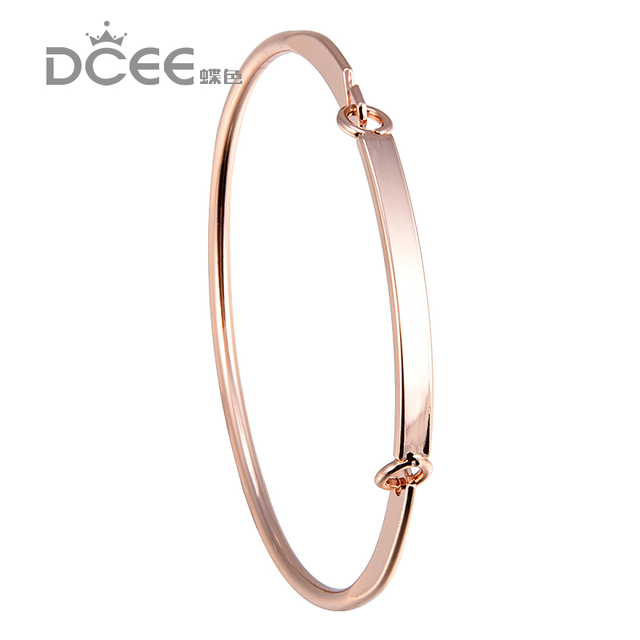 Dcee Custom Name Bracelet Bangle Personalized Initial Gold Bar Copper Laser Engraved Jewelry
