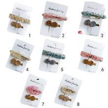 Korean Minimalist Side Bangs Duckbill Hair Clips Women Girls Shimmer Rhinestone Hairpins Candy Colored Acetate Barrette