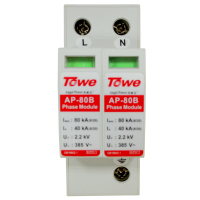 TOWE CLASS B Surge Protective Device 80kA 2P Single Phase Large Flow SPD